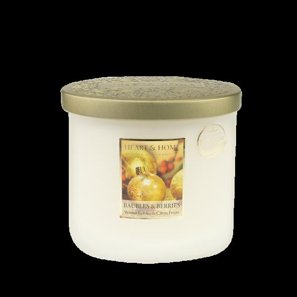 Duftkerze Ellipse Baubles & Berries 230g