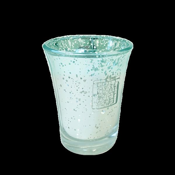 Votivglas Silber/Blau