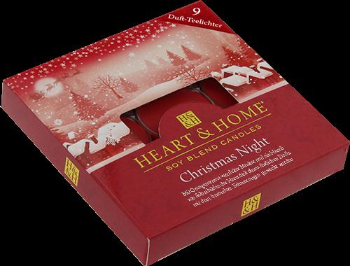 Duft-Teelichter Christmas Night im Geschenkkarton