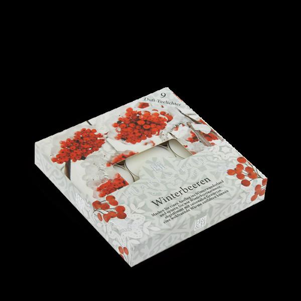 Duft-Teelichter Winterbeere im Geschenkkarton
