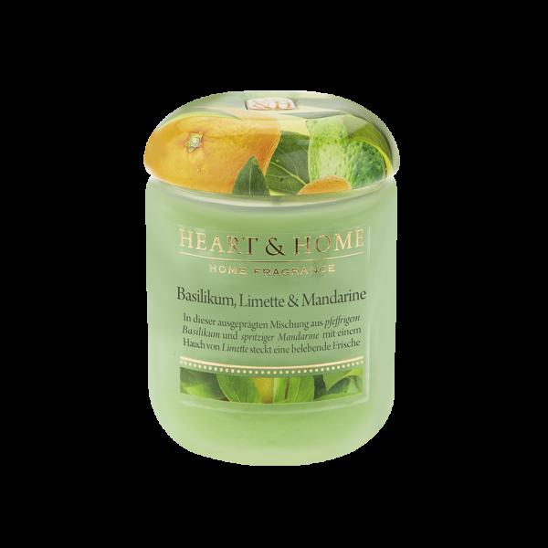 Duftkerze Basilikum, Limette & Mandarine 115g