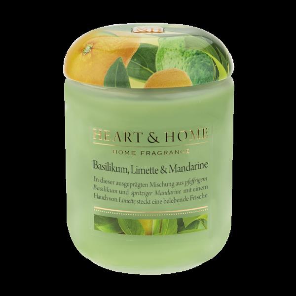 Duftkerze Basilikum, Limette & Mandarine 340g