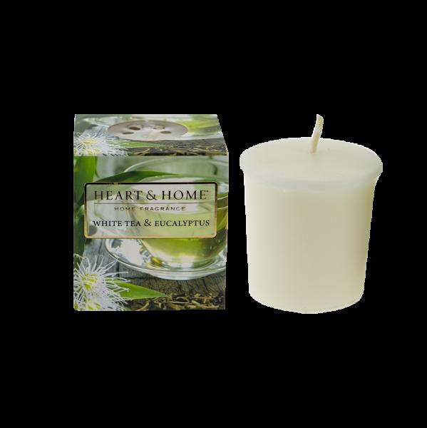 Votivkerze Weißer Tee & Eukalyptus 52g