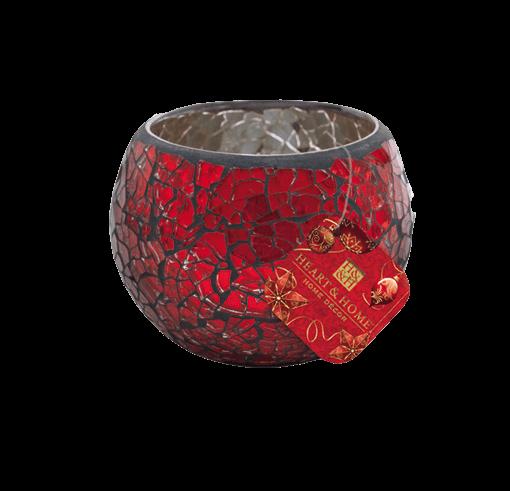 Teelichthalter Mosaik Rot