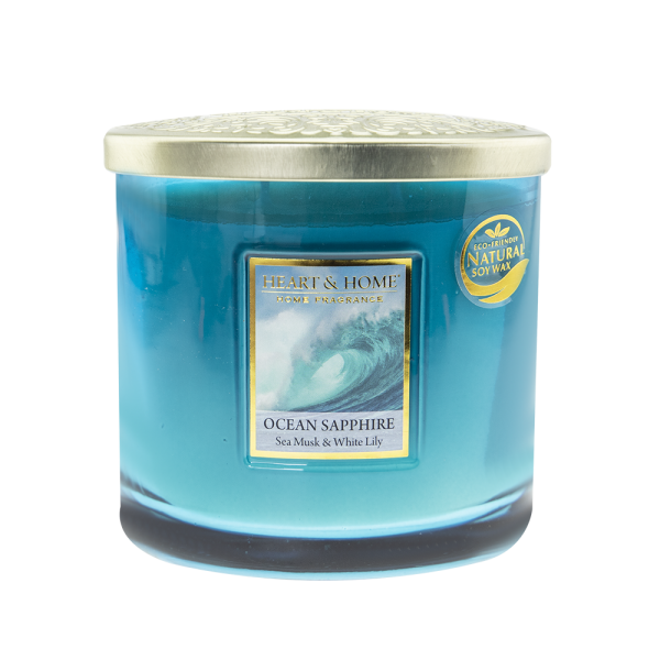 Duftkerze Ellipse Ocean Sapphire 230g