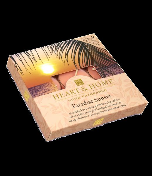 Duft-Teelichter Paradise Sunset im Geschenkkarton