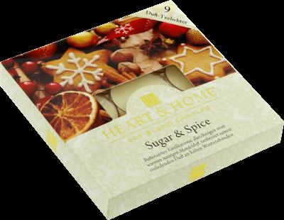 Duft-Teelichter Sugar & Spice im Geschenkkarton