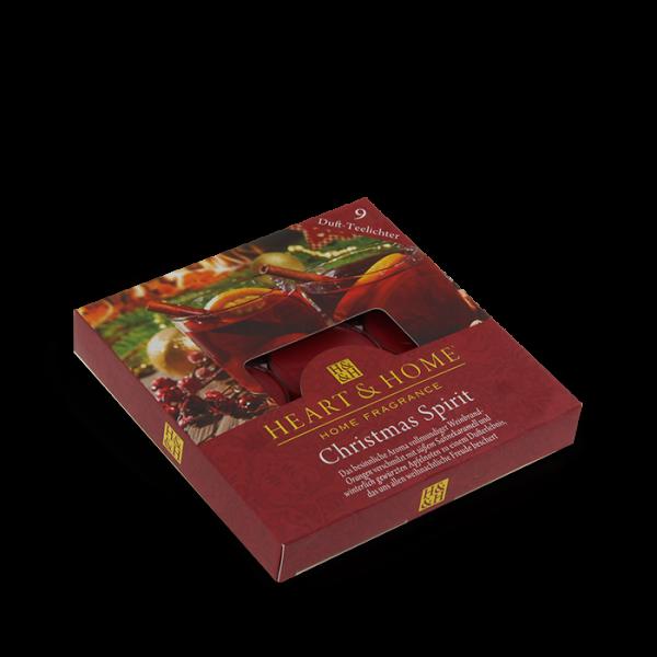 Duft-Teelichter Christmas Spirit im Geschenkkarton