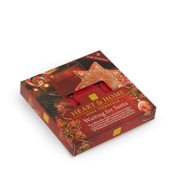 Duft-Teelichter Waiting for Santa im Geschenkkarton