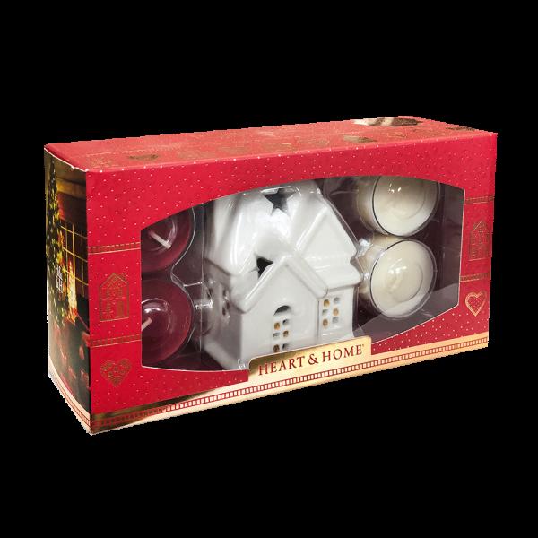Geschenkset Teelichthalter Haus