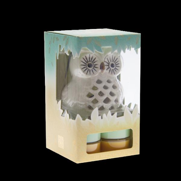 Geschenkset Teelichthalter Eule