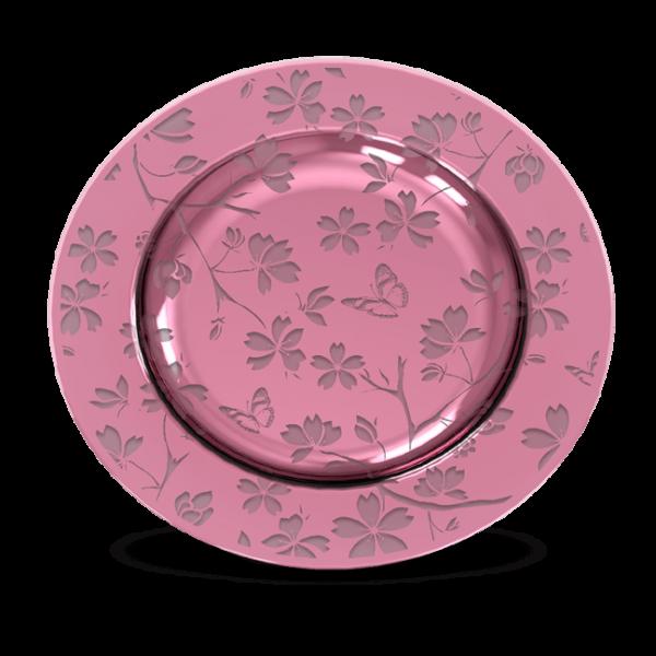 Teller Glas Pink Flower