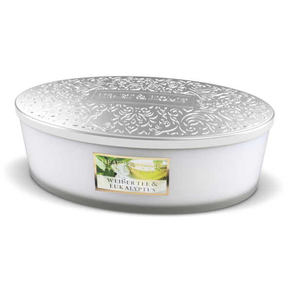 Duftkerze Ellipse Weißer Tee & Eukalyptus 420g