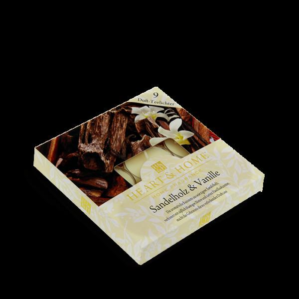 Duft-Teelichter Sandelholz & Vanille im Geschenkkarton