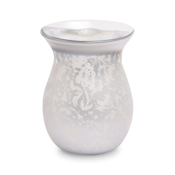 Duftlampe Glas Silber ''Engel''