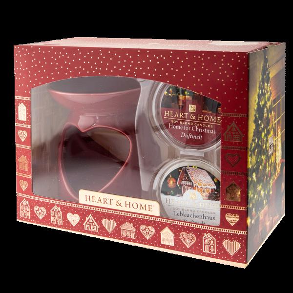 Geschenkset Duftlampe Rot Herz + 2 Duftmelts 2018