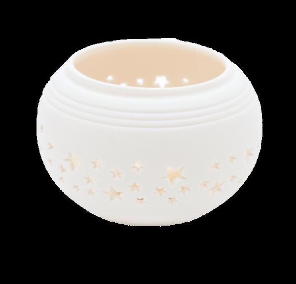 Teelichthalter Porzellan Weiß