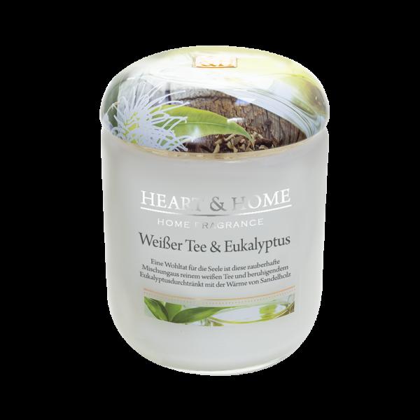Duftkerze Weißer Tee & Eukalyptus 340g