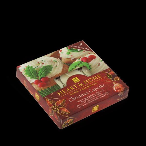 Duft-Teelichter Christmas Cupcake im Geschenkkarton