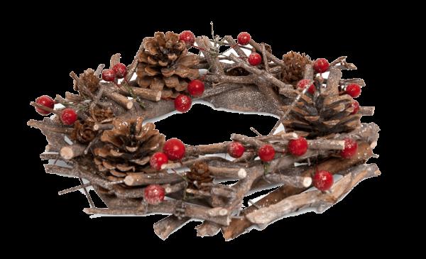 Weihnachtskranz Winterbeere
