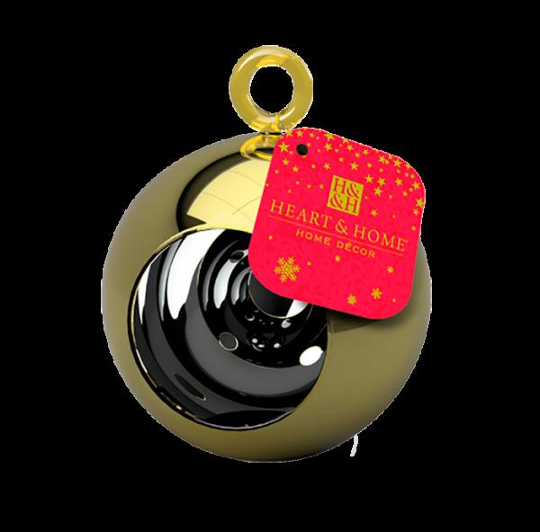 Teelichthalter Glaskugel Gold 2017
