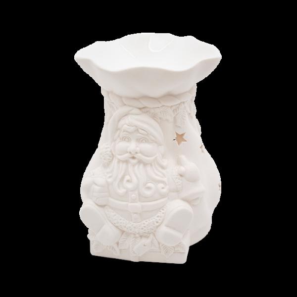 Duftlampe Santa Porzellan Weiß