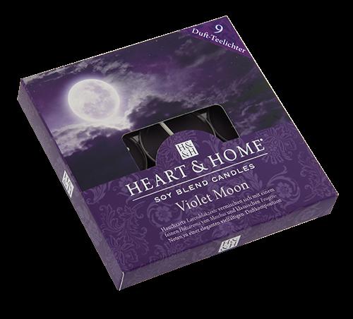 Duft-Teelichter Violet Moon im Geschenkkarton